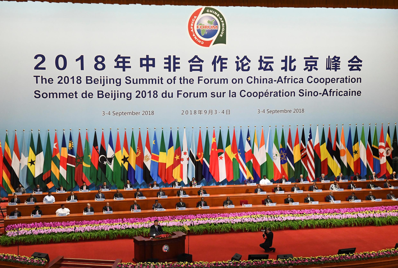 Thượng đỉnh Trung Quốc - Châu Phi tại Bắc Kinh. Ảnh ngày khai mạc 03/09/2018.