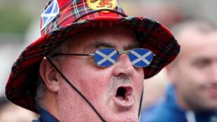 Manifestante pela independência da Escócia