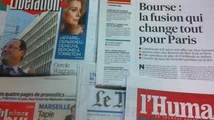 Primeiras páginas diários franceses 21/12/2012