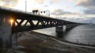 Le pont Oresund, qui relie le Danemark à la Suède.