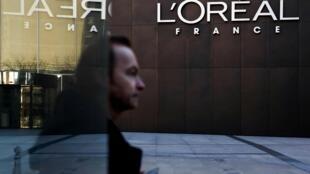 Un bâtiment du groupe de cosmétiques l'Oréal, à Levallois-Perret, près de Paris, le 7 février 2020.