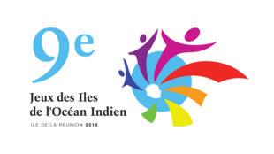 Affiche de la 9e édition des Jeux des îles qui ont eu lieu à l'Île de la Réunion.