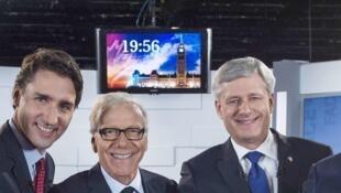 Les protagonistes du débat télévisé du 2 octobre 2015.