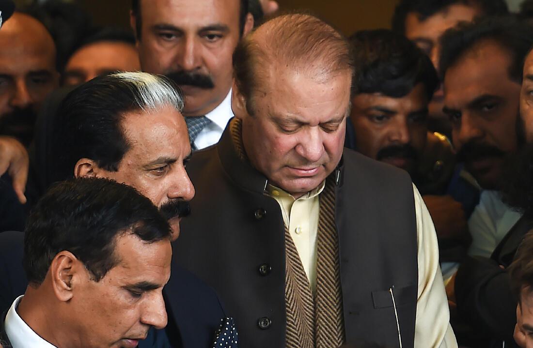 L'ex-premier ministre Nawaz Sharif le 4 décembre 2018 à Islamabad. Après avoir été condamné à 10 ans de prison en juillet, il est condamné à 7 ans de prison lundi 24 décembre 2018.