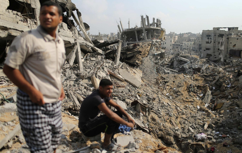 A Gaza-Ville, dans le quartier dévasté de Chajaya, ce mardi 5 août.