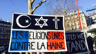 Marche républicaine à Paris, place de la République, le 11 janvier 2015, quelques jours après les attentats de 2015 en France, dont celui contre Charlie Hebdo. (Image d'illustration)