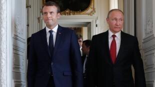 Macron Putin FT