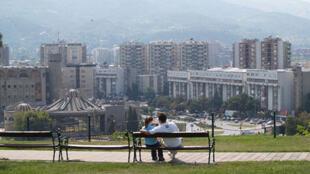 Une vue panoramique de Skopje, capitale de la Macédoine.