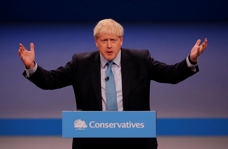 Thủ tướng Boris Johnson phát biểu tại đại hội đảng Bảo Thủ Anh, ở Manchester, ngày 02/10/2019