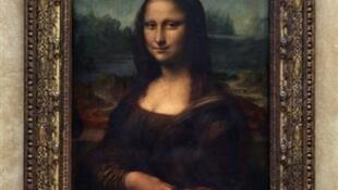 Mona Lisa, ou «la Joconde», de Léonard de Vinci au musée du Louvre à Paris.