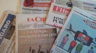 Primeiras páginas dos jornais franceses de 2 de fevereiro de 2018