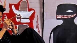 Cartel de la exposición Basquiat en el MAM de París