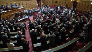 Senado francês, durante reunião plenária. .