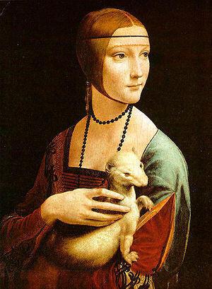 达芬奇的名画《抱银鼠的女子》的原型就是米兰公爵卢多维科·斯福尔扎的情妇切奇利娅·加莱拉尼。