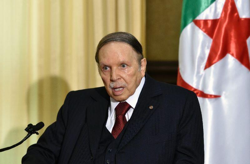 O presidente Abdelaziz Bouteflika numa de suas raras aparições públicas em 2016