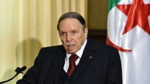 """Le président algérien """"démissionnaire"""" Abdelaziz Bouteflika."""
