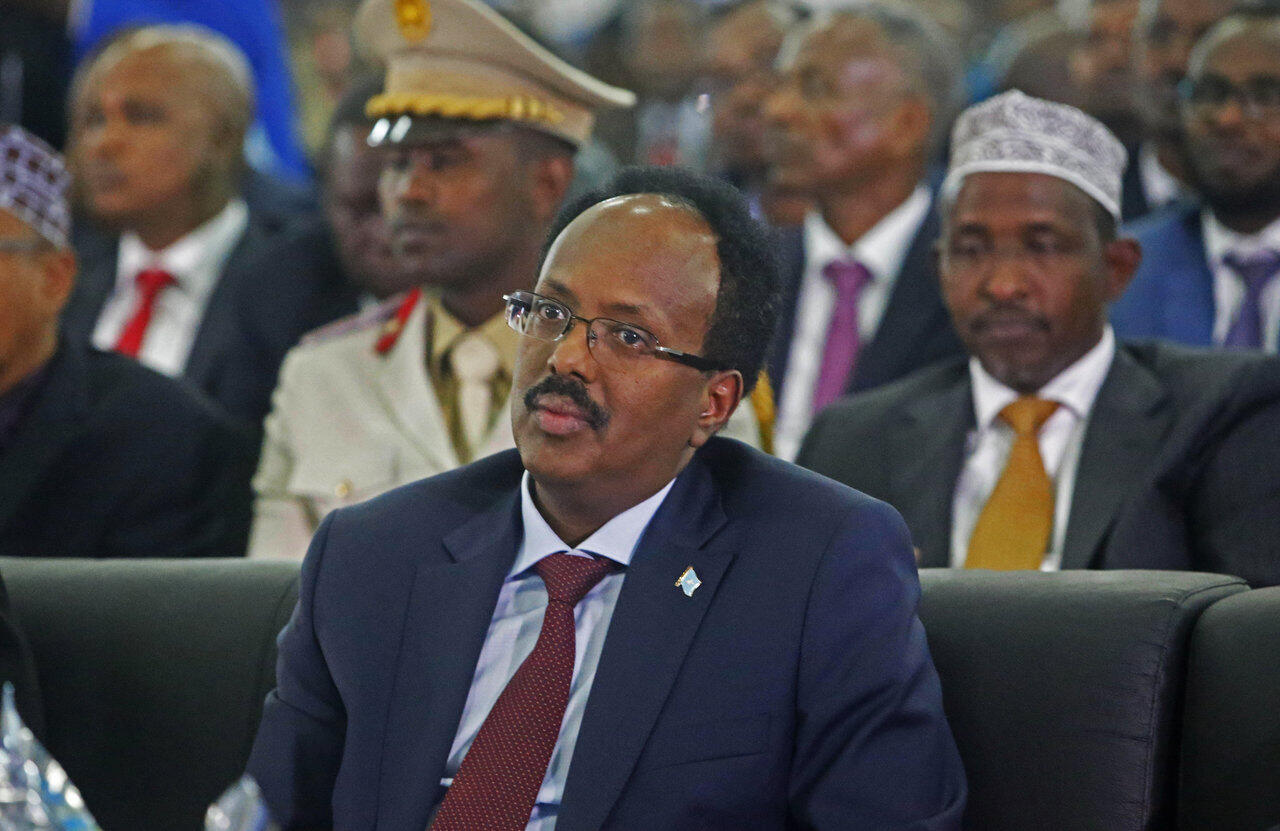 Le président somalien Mohamed Abdullahi Mohamed, dit Farmajo, en 2017 à Mogadiscio.