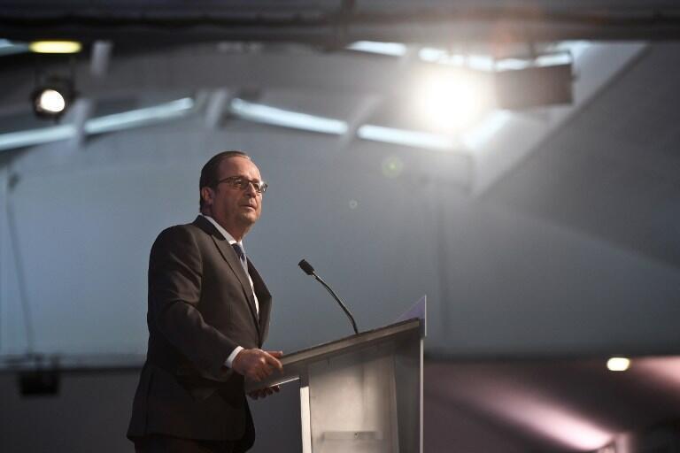 French President François Hollande in La Rochelle