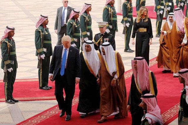 Дональд Трамп в Эр-Рияде 20 мая 2017 г.