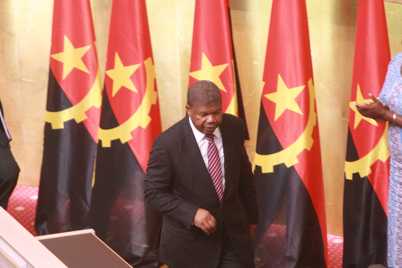 João Lourenço na Assembleia Nacional angolana a 16 de Outubro de 2017