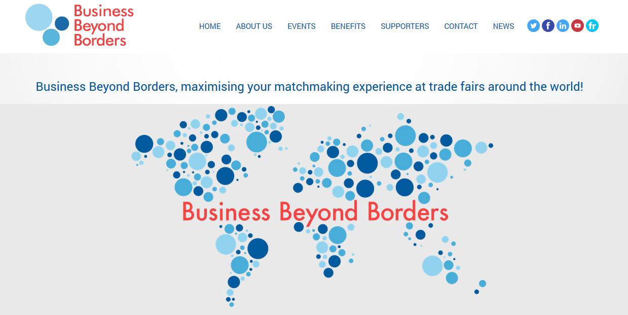 Capture d'écran du site Business Beyond Borders.