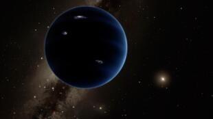 Imagem artística de como seria o Planeta Nove, divulgada pelo Instituto de Tecnologia da Califórnia, em Pasadena, em 20 janeiro de 2016.