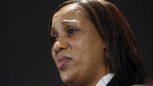 Nafissatou Diallo en una comparecencia ante la prensa el jueves 28 de julio de 2011.