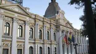 Le Palacio Legislativo où l'Assemblée législative plurinationale bolivienne est située. Les députés boliviens ont votés une loi d'immunité contre les crimes de la crise post-électorale.