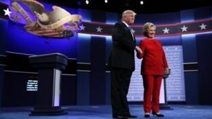 Premier débat télévisé entre Hillary Clinton et Donald Trump dans le cadre de la présidentielle américaine 2016, le 26 septembre à New York.