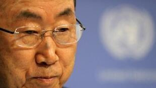 Le secrétaire général de l'ONU, Ban Ki-moon, à New York, le 16 septembre 2013.
