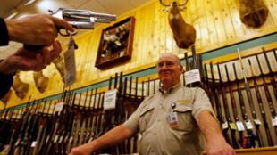 Vendedor de armas en Fort Worth, Texas.