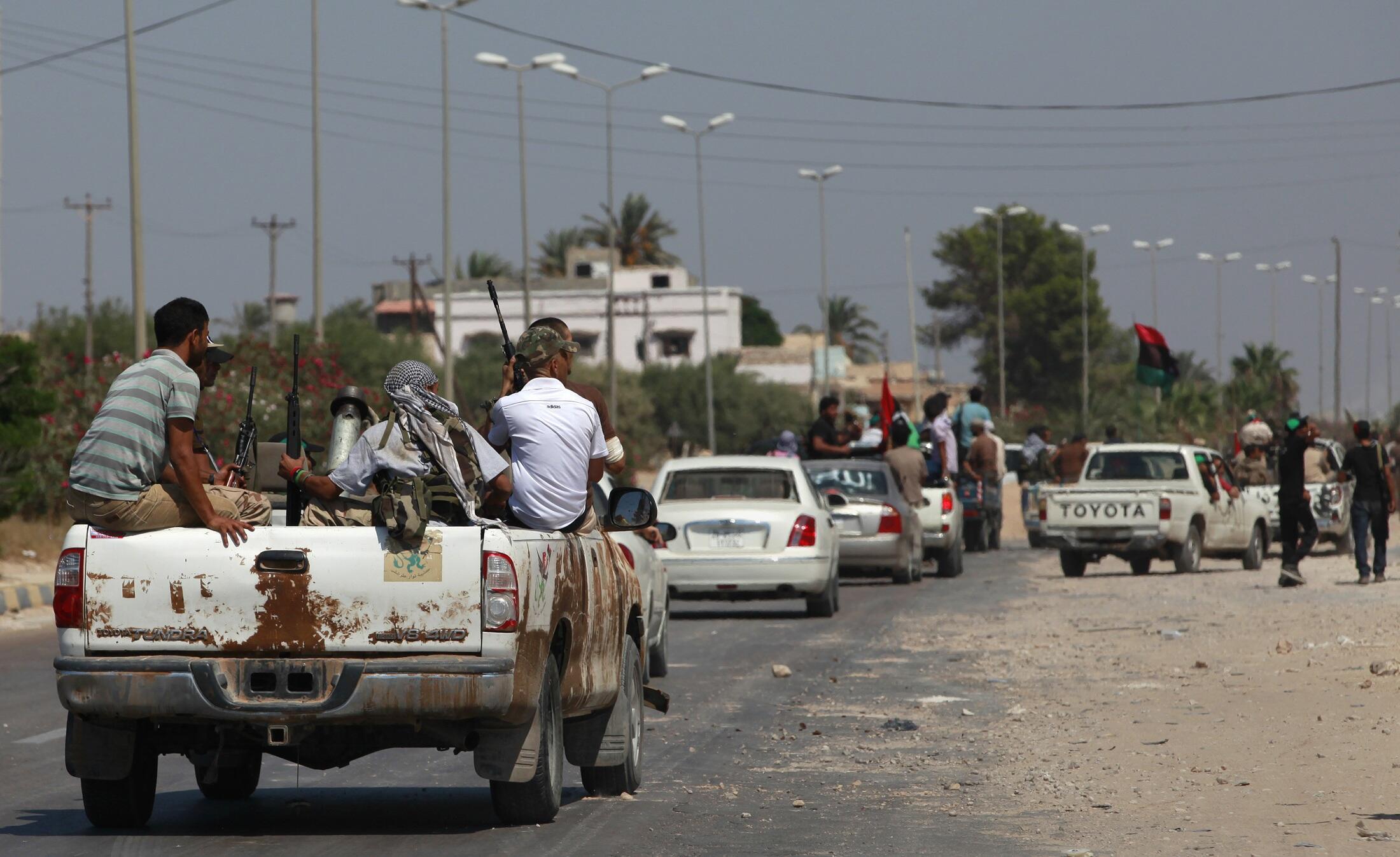 Повстанцы на пути к Триполи