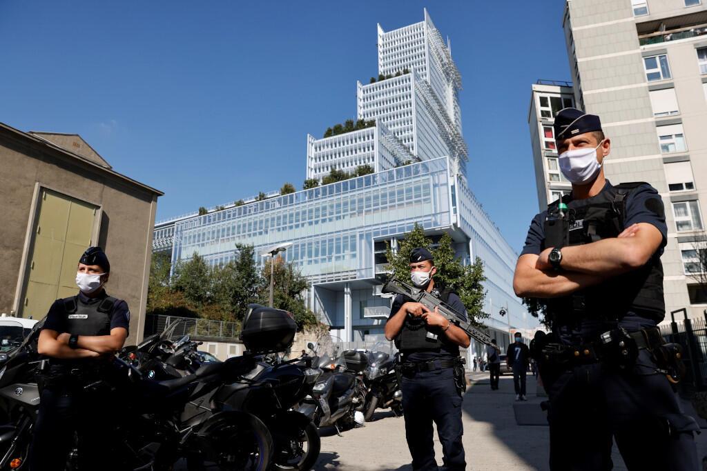 Le tribunal de Paris pour l'ouverture du procès des attentats de 2015 en France.