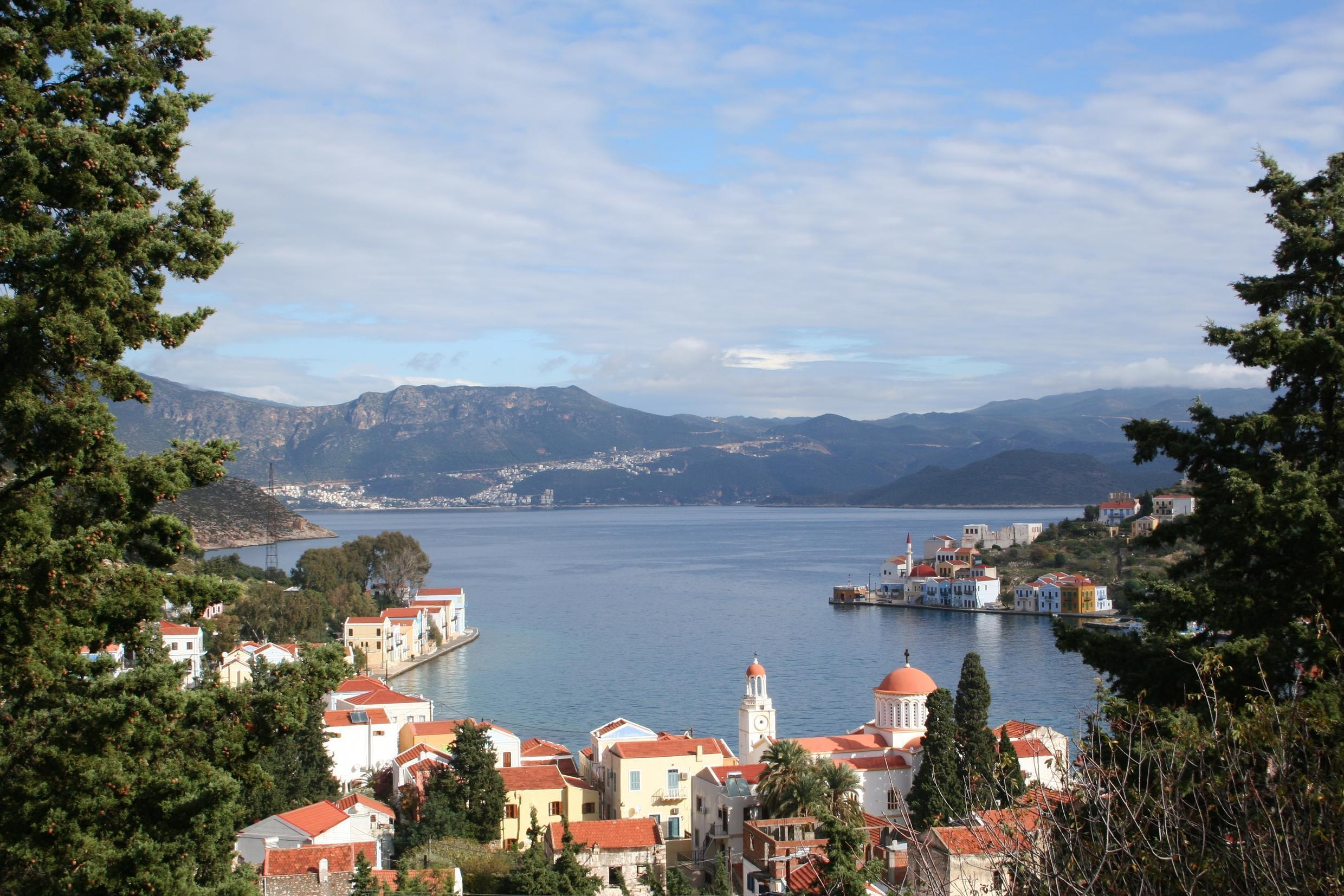 The Greek island of Meyisti lies just seven kilometres from the mainland Turkish town of Kas