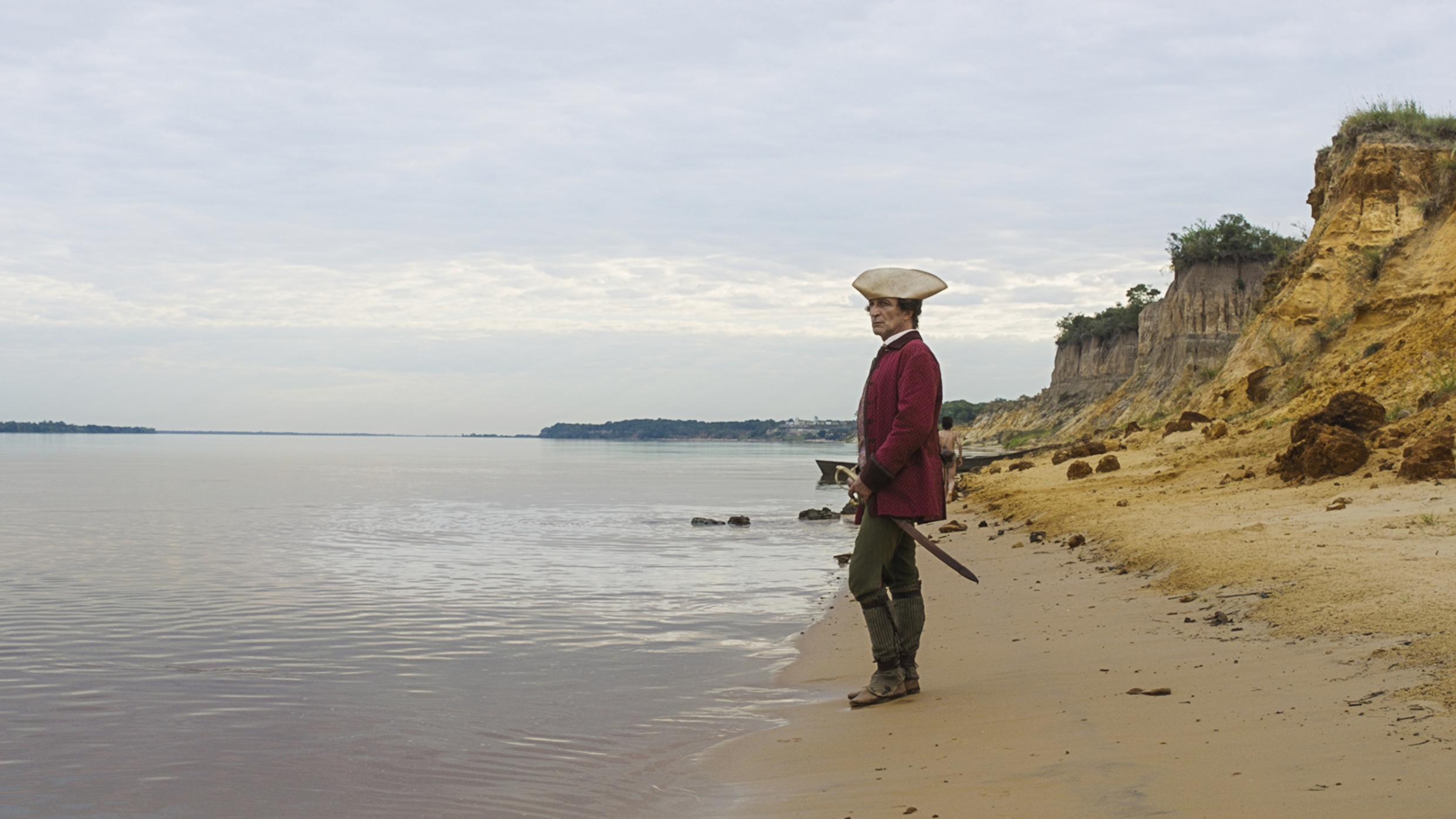 """In Lucrecia Martel's """"Zama"""", Don Diego de Zama waits by the Parana River for a boat to take him back to his family."""