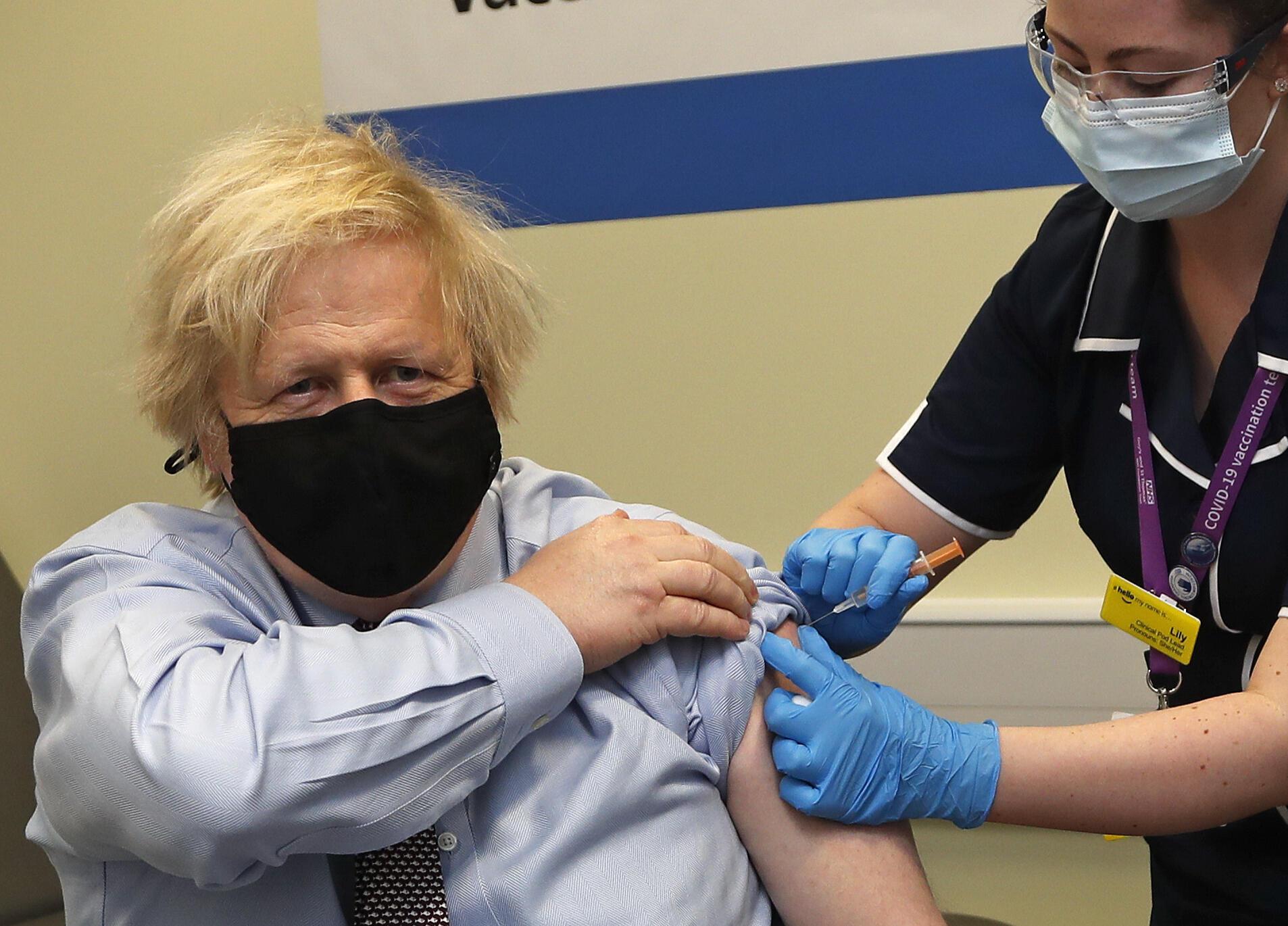 3月19日,接種阿斯利康第一針的約翰遜