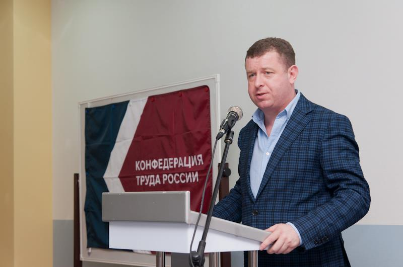Лидер Конфедерации труда России Борис Кравченко