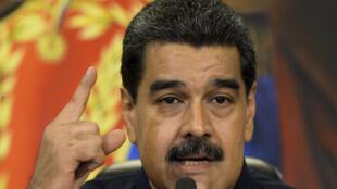 El presiente de Venezuela, Nicolás Maduro, el 17 de octubre de 2017.