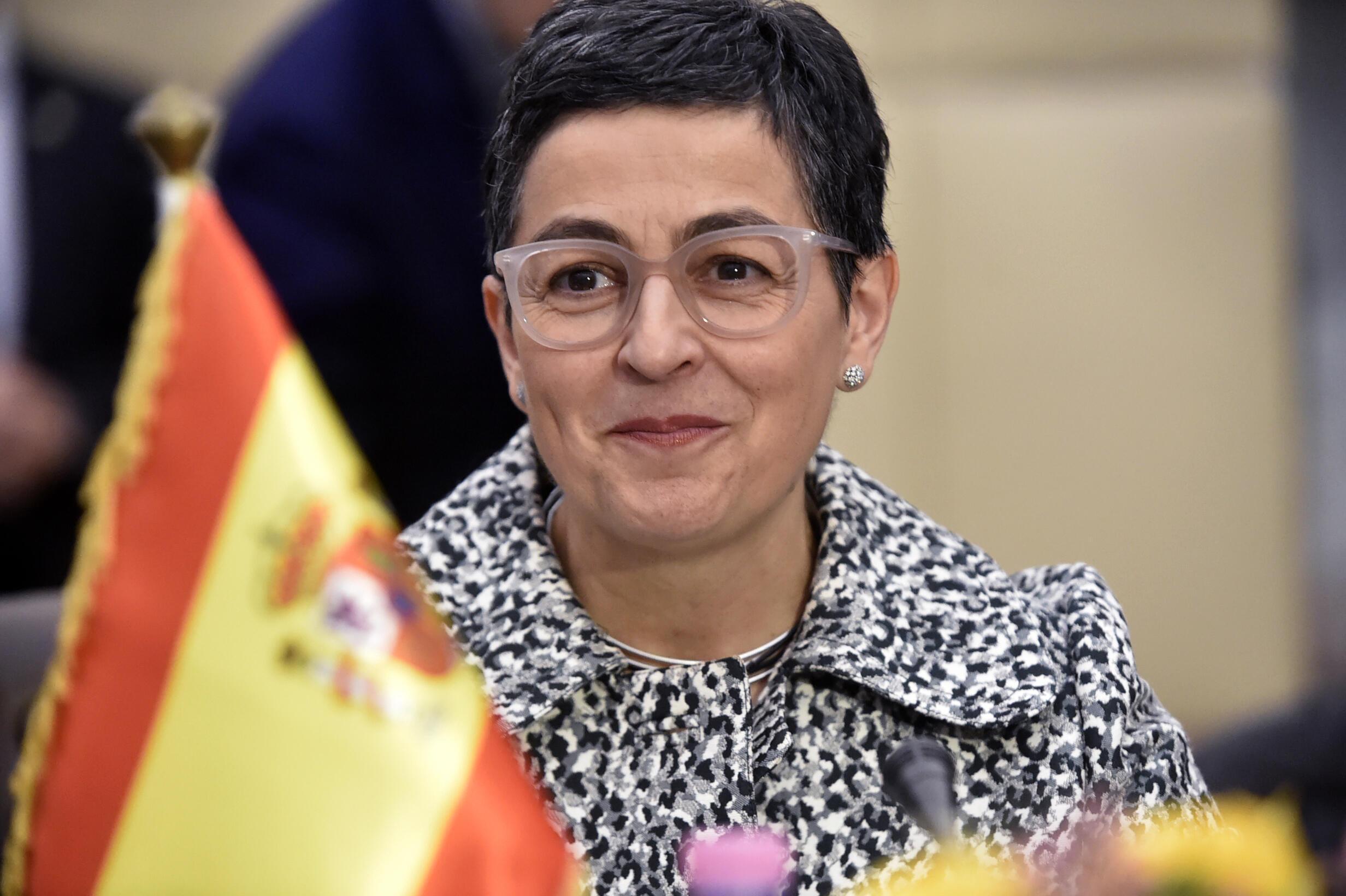 西班牙外交部长阿兰查·冈萨雷斯·拉亚资料图片