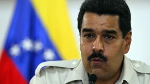 Le président vénézuélien Nicolas Maduro, à Caracas, le 23 avril 2013.
