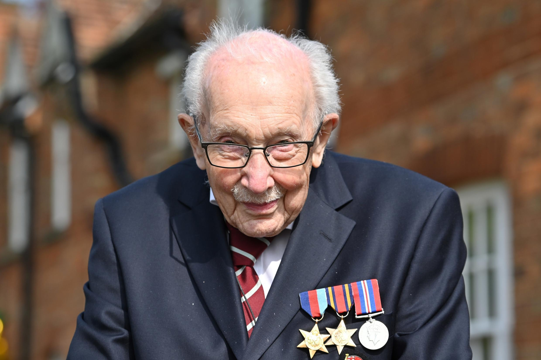 Sir Tom Moore raised £33 million by walking around his garden