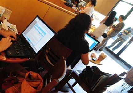 Cybercafé à Pékin.