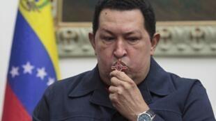 Rais wa Venezuela Hugo Chavez ambaye anaendelea kupatiwa matibabu ya saratani nchini Cuba