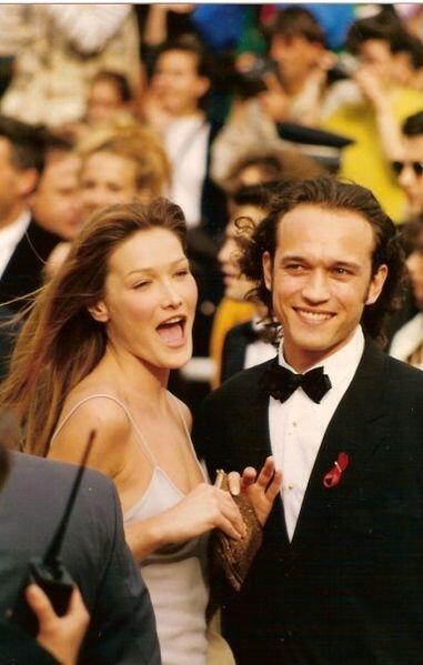 Carla Bruni attending Cannes film festival in 1994