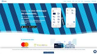 La page d'accueil du site xaalys.com