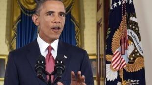 Le président Barack Obama explique sa stratégie contre l'Etat islamique, le 10 septembre 2014.