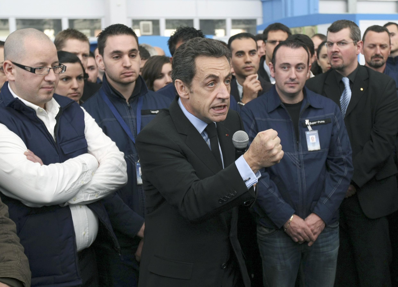 """""""Somos el gran país europeo más desindustrializado"""", se lamentó Nicolas Sarkozy en Marignane este 4 de marzo de 2010."""