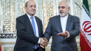 دیدار وزرای امورخارجه فرانسه و ایران در تهران