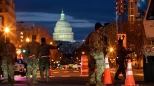 Des soldats de la garde nationale à Washington.