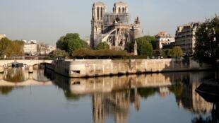 火劫后的巴黎圣母院。2018年1月18日。